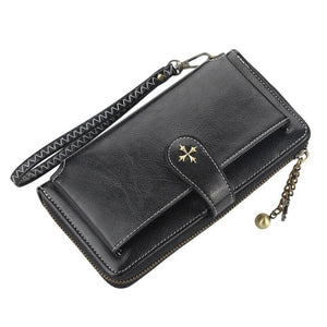 Name Engraving Women Wallets Card Holders Classic Long Top Quality Leather Female Purse Zipper Brand Wallet For Women Carteria - ladystreets