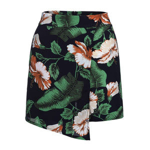 High Waist Shorts Women Summer 2020 Streetwear Casual Bohemian Women Shorts Floral Printed Beach Sports Spodenki Damskie - ladystreets
