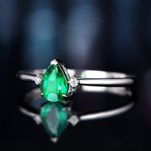 Load image into Gallery viewer, Anillos Yuzuk High Quality 925 Sterling Silver Green Gemstone Rings For Women Engagement Wedding Party Finger Ring Fine Jewelry - ladystreets