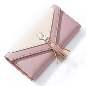 WEICHEN HOT Geometric Envelope Wallet Women Brand Designer Female Wallet Card Holder Phone Coin Pocket Ladies Purse High Quality - ladystreets