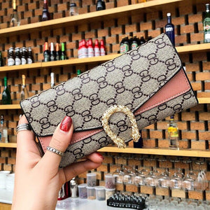 Wallet Brand Coin Purse Canvas Leather Women Wallet Purse New Wallet Female Card Holder Lady Clutch purse Carteira Feminina - ladystreets