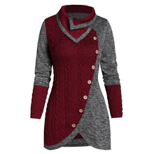 Load image into Gallery viewer, Winter Color Block Sweater Women Pullover Autumn Clothes Women Sweter Tops For Womens Sweaters 2020 Pull Femme Nouveaute