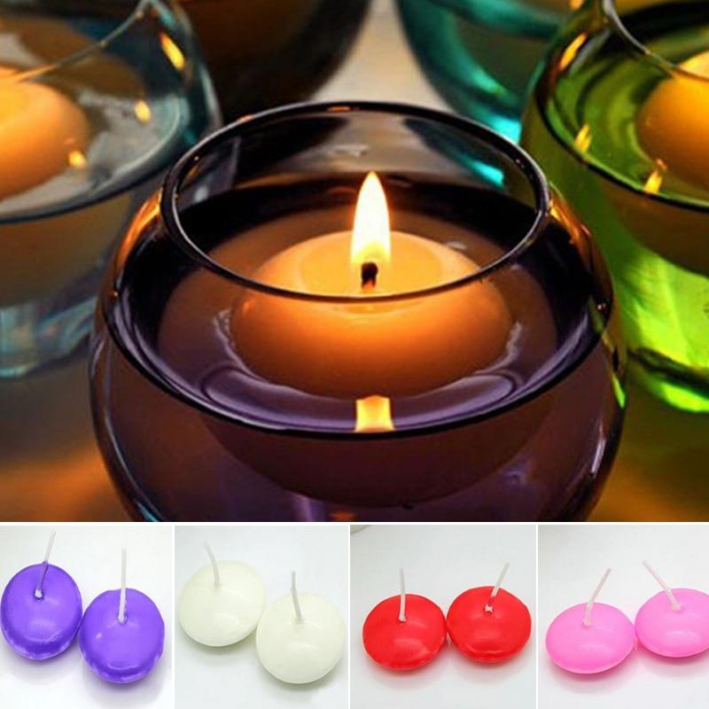 10Pcs/lot Floating Candles For Wedding Party Event Home Decor Candles New Year Christmas Decoration - ladystreets