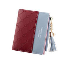 Load image into Gallery viewer, New Fashion Women Wallets For Woman Wallet Color Tassel Heart Hasp Zipper Purse Female Card Holder Short Ladies Coin Purse - ladystreets