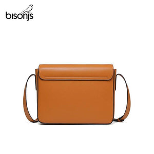 BISONJS New Women Messenger Bag Small Square Female Cross body Shoulder Bag Lock Handbag Small Square Bag Coin Phone Pouch B1920 - ladystreets