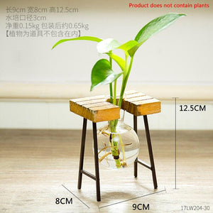 Nordic Glass Bottle Vase Home Decoration Modern Office Desk Hydroponics Vase Living Room Table Flower Vase Decor Wedding Decor - ladystreets