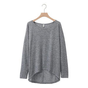 Plus Size Women O-neck cotton long sleeve female blouse workout Loose Autumn Tee High quality very soft Tops M30396