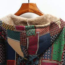 Load image into Gallery viewer, Womail Vintage Coats For Women Mom Winter Warm Coats Single Breasted Hooded With Pocket Print Parkas Plus Size 2019 Femme Coats