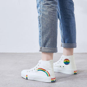 Women Vulcanized Shoes Fashion Sneakers Ladies Canvas Shoes Summer Trainers Black Basket Femme Casual Denim Tenis Feminino 2020 - ladystreets
