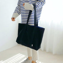 Load image into Gallery viewer, Large Lady Fashion Tote Bag Soft Washable Beach Casual Handbag for Travel Eco Friendly 2020 summer shoulder Shopping bag - ladystreets