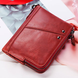 Fashion Wallet 2020 Women Wallet Genuine Leather Female Purse Money Handbag Card Holders Phone Case Clip Pocket walet for women - ladystreets