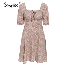 Load image into Gallery viewer, Simplee Elegant square collar summer chiffon dresses Casual beach women vintage ruffles boho dress robe femme dresses vestidos