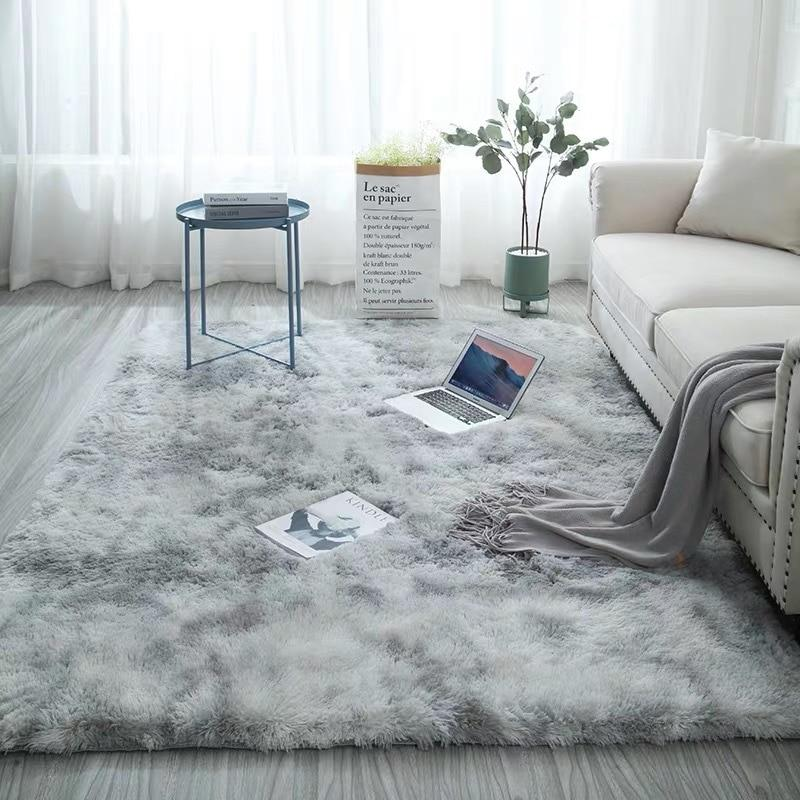Modern Home Rug Tie Dyeing Plush Soft Carpet For Living Room Bedroom Anti-slip Floor Mats Bedroom Water Absorption Carpet Rugs - ladystreets