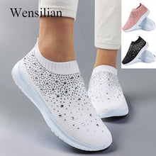 Load image into Gallery viewer, Vulcanized Shoes Women Sneakers Fashion Bling Sock Sneakers Ladies Trainers Slip on Casual Shoes Tenis Feminino Zapatillas Mujer - ladystreets