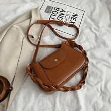 Load image into Gallery viewer, Chic Plait Straps Shoulder Bag For Women 2020 Simple Brief Small PU Leather Cross body Female Street Fashion Designer Handbag - ladystreets