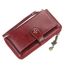 Load image into Gallery viewer, Name Engraving Women Wallets Card Holders Classic Long Top Quality Leather Female Purse Zipper Brand Wallet For Women Carteria - ladystreets