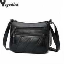 Load image into Gallery viewer, Women Messenger Bag Lady Shoulder Crossbody Bag Small Female pu Leather Handbag Black Flap Purse Bolsa - ladystreets