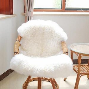 Living Room Bedroom Rugs Skin Fur Plain Fluffy Area Rugs Fur Artificial Sheepskin Hairy Carpet Washable Bedroom Faux Mats - ladystreets