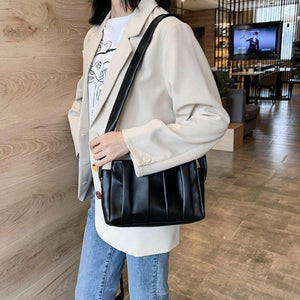 Ladies Tote Bags For Women Leather Handbags Women Clouds Hand Bag Messenger Shoulder Bag Female Vintage Leather Dumplings Bolso - ladystreets
