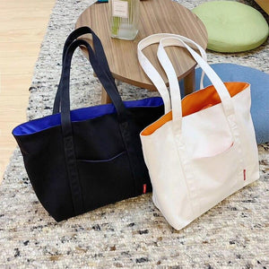 Large Lady Fashion Tote Bag Soft Washable Beach Casual Handbag for Travel Eco Friendly 2020 summer shoulder Shopping bag - ladystreets