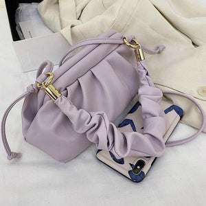 Purple Cloud Bags PU Leather Crossbody Bags For Women 2020 Candy Color Shoulder Hand bags Female Cross Body Bag Purse - ladystreets
