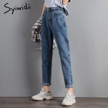 Load image into Gallery viewer, plus size Mom jeans women high waist boyfriend jeans for women Harem Pants denim street style Coated Ankle-Length High Street - ladystreets