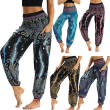 Load image into Gallery viewer, Fashion Bohemian Loose Pant Men Women Casual Hippy Trousers Baggy Aladdin Harem Pant Droppship 20 Colors Штаны для йоги Freeship - ladystreets