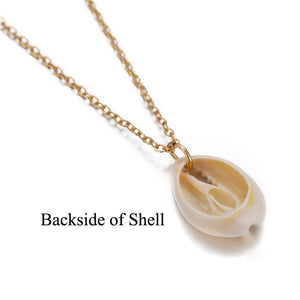 Bohemian Cowrie Conch Shell Pendant Necklace for Women Fashion Ocean Sea Beach Necklaces Boho Shell Jewelry - ladystreets