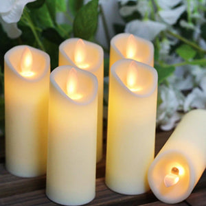 LED Flameless Candles , 3PCS/ 6PCS LED Candles Lights Battery Operated Plastic Pillar Flickering Candle Light for Party Decor - ladystreets