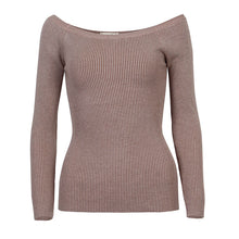 Load image into Gallery viewer, Wixra Warm and Charm Off Shoulder Knitted Sweater Women Autumn Elegant Jumper Pull Femel Winter High Stretch Knitwear Top