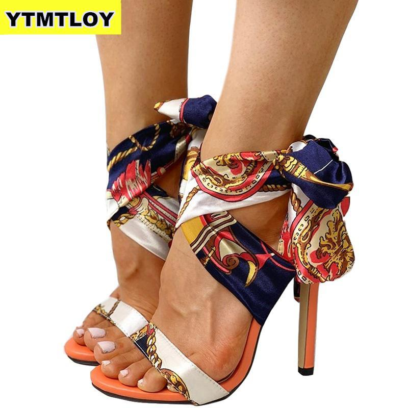 Ribbon Summer Luxury High Heels New Women Pumps Comfort Shoes Sandals Sexy Party Female Peep Toe - ladystreets