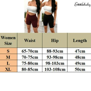 Women High Waist Stretch Biker Shorts Workout Yogawear Fitness Sports Pantalones Cortos Mujer Spodenki Bottom - ladystreets