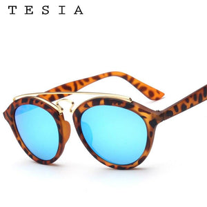TESIA Luxury Sunglasses Women Brand Designer Oval Sun Glasses For Woman Mirrored Ladies Shades In Gatsby Style Eyewear T651 - ladystreets