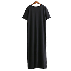 Maxi T Shirt Dress Women Summer Dresses Casual Beach Sexy Boho Vintage Bandage Elegant Bodycon Black Long Sundress Plus Size