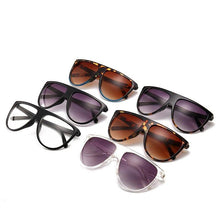 Load image into Gallery viewer, vintage sunglasses women brand designer flat top Europe style brand gafas de sol mujer uv400 female shades ladies glasses - ladystreets