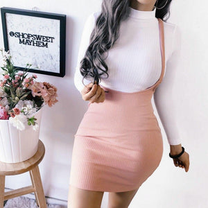 Womens Skirts Summer Boho Short Mini Pencil Skirt Femme Evening Party Beach Bodycon Strap Overalls Skirts Fashion Hot - ladystreets