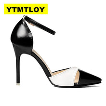 Load image into Gallery viewer, Women Shoes Pointed Toe Pumps Patent Leather Dress Shoes High Heels Boat Shoes Wedding Shoes Zapatos Mujer Fight color - ladystreets