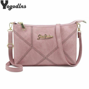Retro Women Handbags Female Shoulder Crossbody Bags Ladies Artificial Leather Small 4 Colors Stripe Messenger Envelope Bags - ladystreets