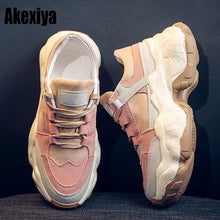 Load image into Gallery viewer, High Quality Trainers Women's Platform Sneakers Women Shoes Breathable Casual Women Running Chunky Sneakers f366 - ladystreets