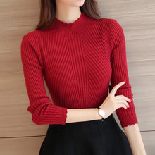 Load image into Gallery viewer, Knitted Sweater Turtleneck Women Winter Autumn 2018 Long Sleeve Female Slim Thin Ladies Tops Women's Pullovers Pull Femme Hiver