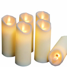 Load image into Gallery viewer, LED Flameless Candles , 3PCS/ 6PCS LED Candles Lights Battery Operated Plastic Pillar Flickering Candle Light for Party Decor - ladystreets