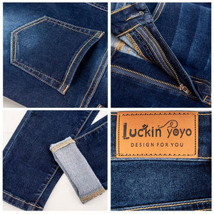 luckinyoyo jean jeans for women with high waist pants for women plus up large size skinny jeans woman 5xl denim modis streetwear - ladystreets