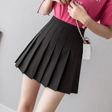 Load image into Gallery viewer, Women high waist pleated skirt Sweet Cute Girls Dance Mini Skirt Cosplay black white skirt Fashion Female Mini Skirts Short - ladystreets