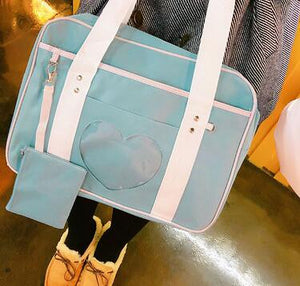 Preppy Style Pink Travel Shoulder School Bags For Women Girls Canvas Large Capacity Casual Luggage Organizer Handbags Totes - ladystreets
