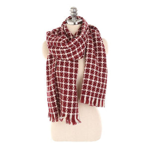 LaMaxPa 2018 New Fashion Winter Plaid Scarf For Women/Lady Warm Wool Pashmina Shawls For Dress Long Tassel Female Wraps Capes - ladystreets