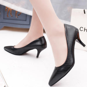 Super High Women Shoes Pointed Toe Pumps Patent Leather Dress High Heels Boat Wedding Shoes - ladystreets