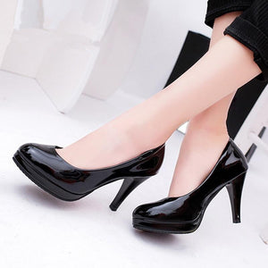 Plus Size Wedding Bridal Shoes Ankle Strap Women's Pumps Platform Ultra Very High Heels Stilettos - ladystreets