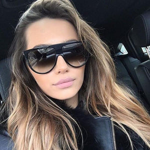vintage sunglasses women brand designer flat top Europe style brand gafas de sol mujer uv400 female shades ladies glasses - ladystreets