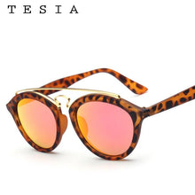Load image into Gallery viewer, TESIA Luxury Sunglasses Women Brand Designer Oval Sun Glasses For Woman Mirrored Ladies Shades In Gatsby Style Eyewear T651 - ladystreets