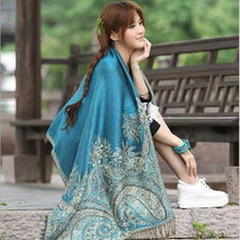 Load image into Gallery viewer, LaMaxPa New Women Elegant Reversible Floral Paisley Pashmina Shawl Wrap Scarf Femme Noble Echarpe Vrauw Grace Sjaals Mujer Chal - ladystreets